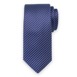 Classic tie with black striped pattern 11545, Willsoor