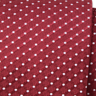 Classic tie with white polka dot pattern 11546, Willsoor