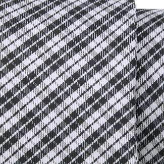 Classic tie with black and white check pattern 11551, Willsoor