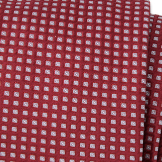 Classic tie in claret color with check pattern 11553, Willsoor
