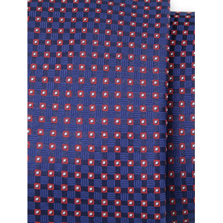 Classic tie with red check pattern 11557, Willsoor