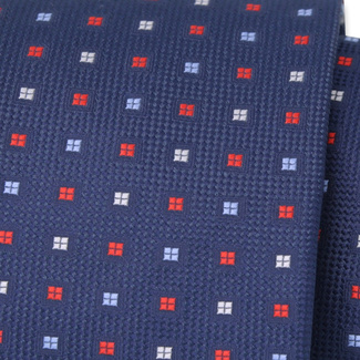 Classic tie with fine check pattern 11559, Willsoor