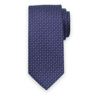Classic tie with red, white a blue pattern 11560, Willsoor