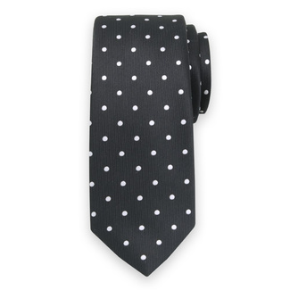 Classic tie with white polka dot pattern 11562