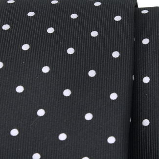 Classic tie with white polka dot pattern 11562, Willsoor