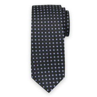 Classic tie with blue check pattern 11564