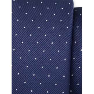 Classic tie with fine white polka dot pattern 11565, Willsoor