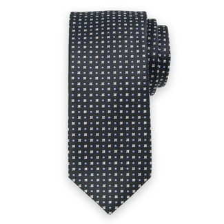 Classic tie with fine geometric pattern 11566