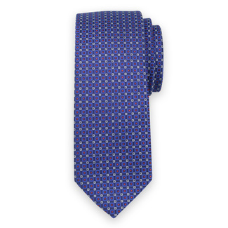 Classic tie in dark blue color with fine pattern 11567, Willsoor