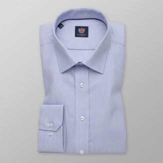 Men's Slim Fit shirt in light blue color with fine pattern 11583