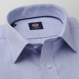 Men's Classic Fit shirt in light blue color with fine pattern 11584, Willsoor
