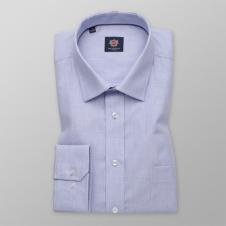 Men's Classic Fit shirt in light blue color with fine pattern 11584