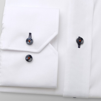 Men's Slim Fit shirt in white with contrast elements 11594, Willsoor
