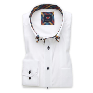 Men's Classic Fit shirt in white with contrast elements 11595, Willsoor