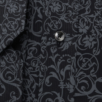 Men's Classic Fit shirt with grey floral pattern 11599, Willsoor