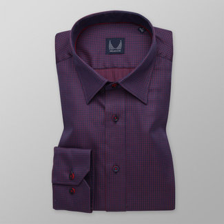 Men's Slim Fit shirt with fine red pattern 11602