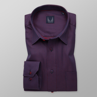 Men's Classic Fit shirt with fine red pattern 11603, Willsoor