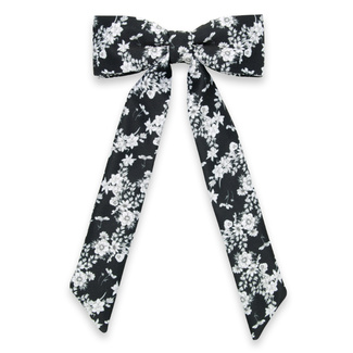 Women's bow tie with white floral pattern 11629