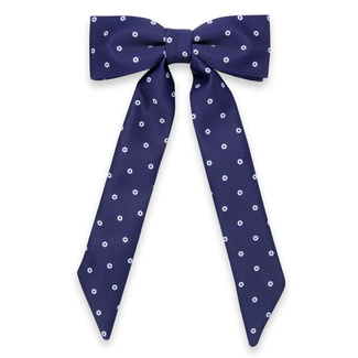 Women's bow tie in dark blue color with white pattern 11630