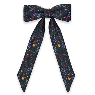 Women's bow tie with colorful floral pattern 11631