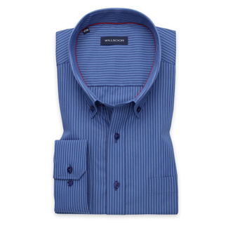 Men's classic shirt with blue striped pattern 11641, Willsoor
