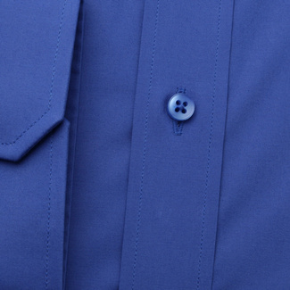 Men's classic shirt in blue color with dotted element 11651, Willsoor