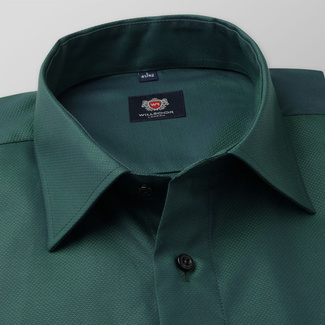 Men's classic shirt in green color 11671
