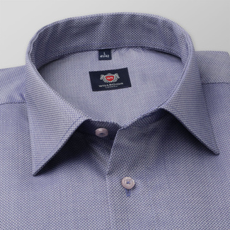 Men's slim fit shirt in grey-blue 11674, Willsoor