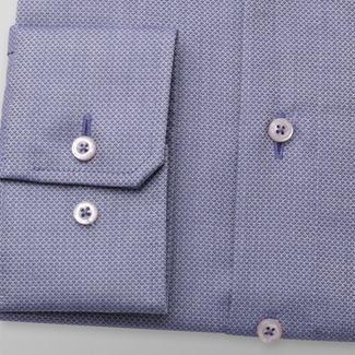 Men's classic shirt in grey-blue 11675, Willsoor