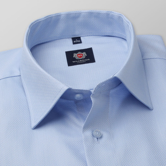 Men's slim fit shirt in light blue color 11678, Willsoor