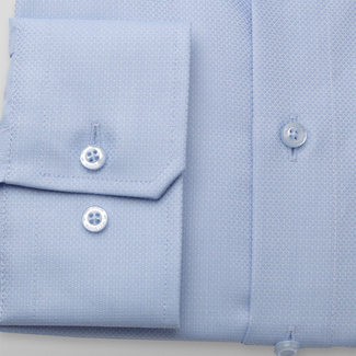 Men's classic shirt in light blue color 11679, Willsoor