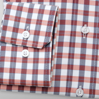 Men's slim fit shirt with check pattern 11682, Willsoor