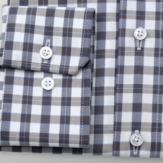 Men's slim fit shirt with check pattern 11684, Willsoor
