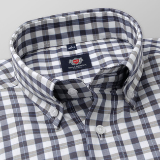 Men's classic shirt with check pattern 11685, Willsoor