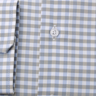Men's slim fit shirt with gingham pattern 11688, Willsoor