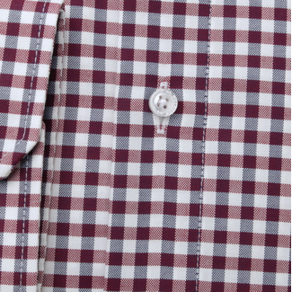 Men's slim fit shirt with claret-grey-white check 11689, Willsoor