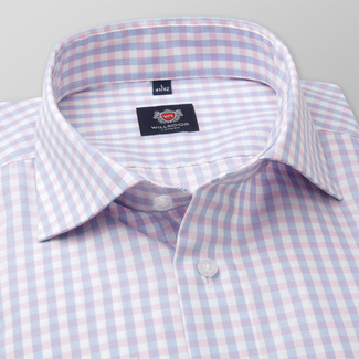Men's slim fit shirt with gingham pattern 11690, Willsoor