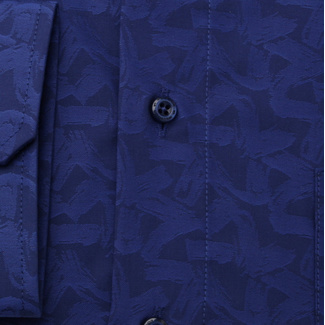 Men's classic shirt with geometric pattern 11693, Willsoor