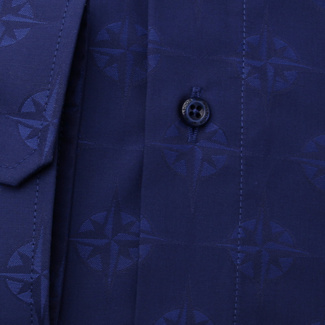 Men's classic shirt in dark blue 11694, Willsoor