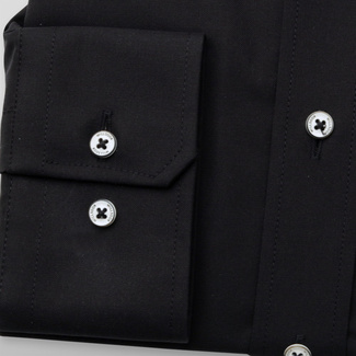 Men's classic shirt in black color 11699, Willsoor
