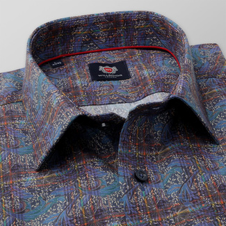 Men's slim fit shirt with colorful floral pattern 11735, Willsoor