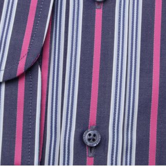 Men's slim fit shirt with colorful strips 11747