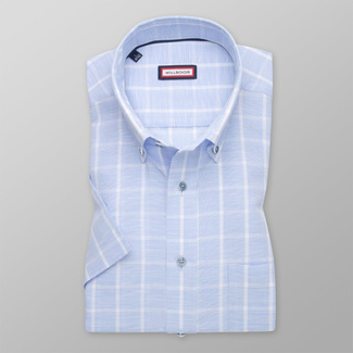 Men's Slim Fit shirt in pale blue with fine pattern 11764