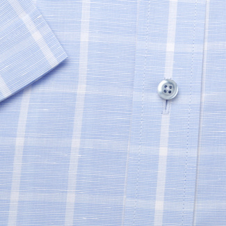 Men's classic shirt in pale blue with fine pattern 11765, Willsoor