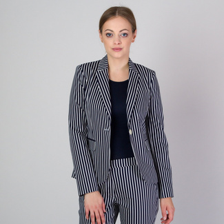 Women's suit jacket with contrast striped pattern 11778, Willsoor