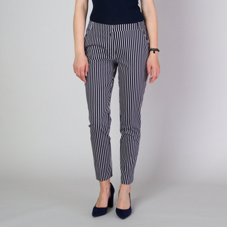 Women's suit trousers with contrast striped pattern 11779, Willsoor