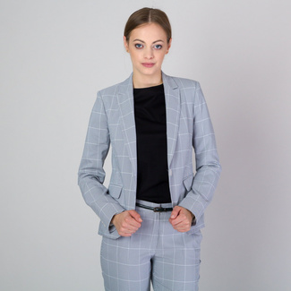 Women's suit jacket with fine check pattern 11780, Willsoor
