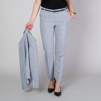 Women's suit trousers with fine check pattern 11781, Willsoor