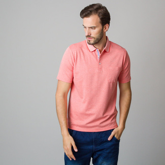 Men's polo shirt in coral color 11791, Willsoor