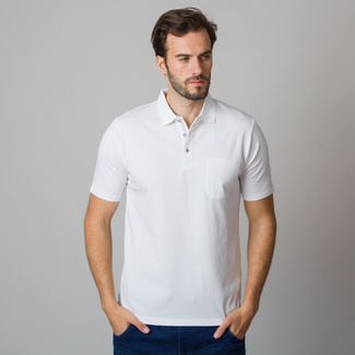 Men's polo shirt in white color 11793